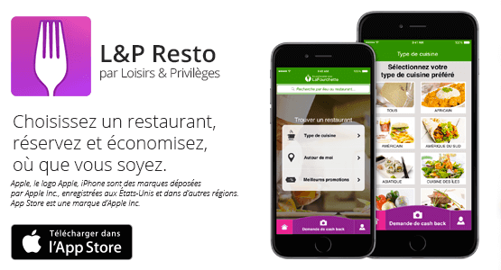 Logo de l'application L&P Resto de webloyalty
